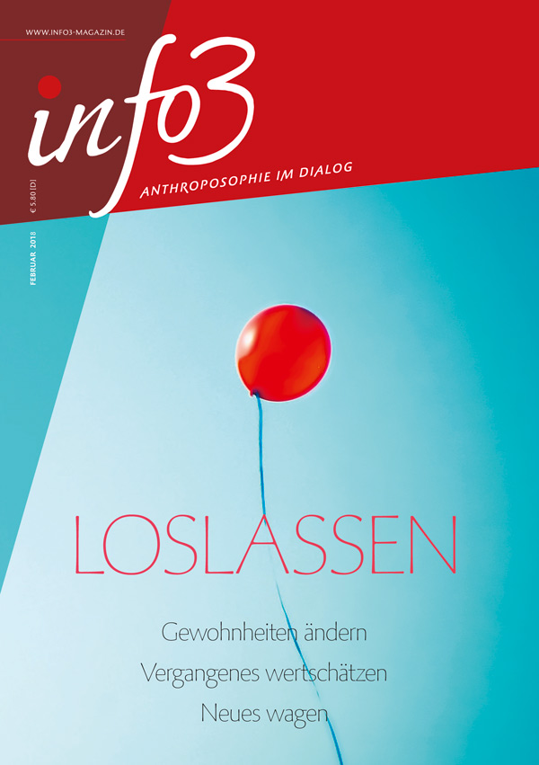 Loslassen. Zeitschrift Info3, Ausgabe Februar 2018